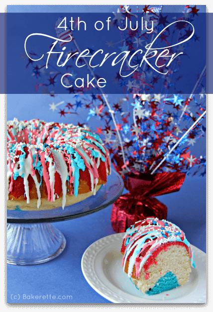 4th of July firecracker cake on I Heart Nap Time