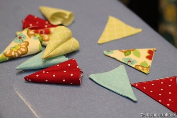 use any fabrics you'd like with this bunting tutorial