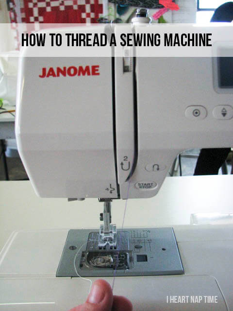 Learn how to thread a sewing machine #tips