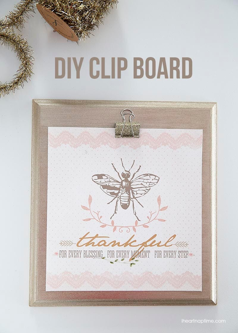 DIY clipboard on I Heart Nap Time