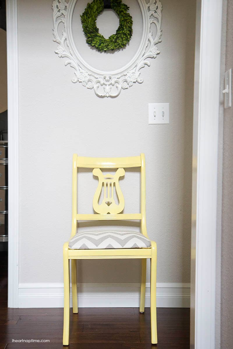 yellow chair makeover