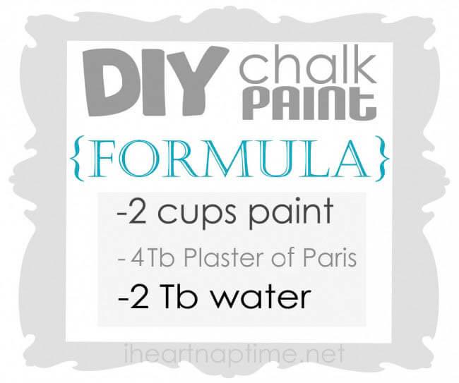 how to make chalk paint on iheartnaptime.com #DIY