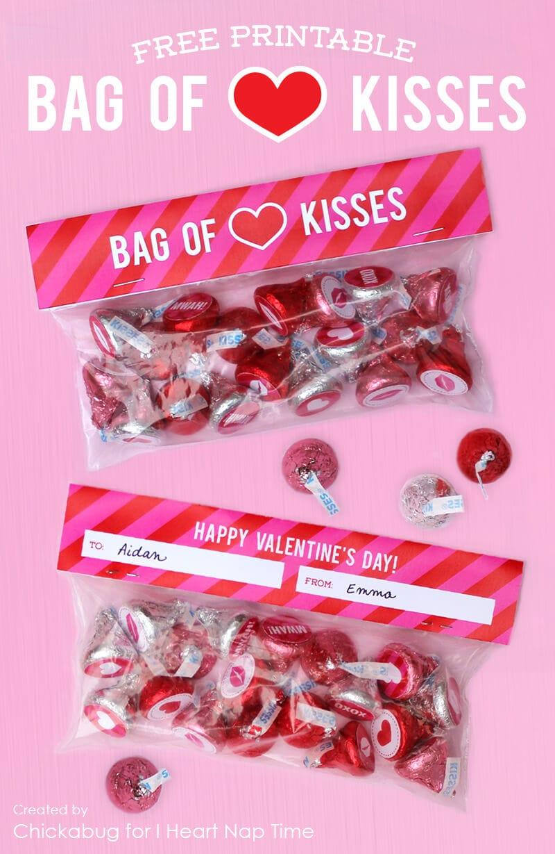 Bag of kisses Valentine