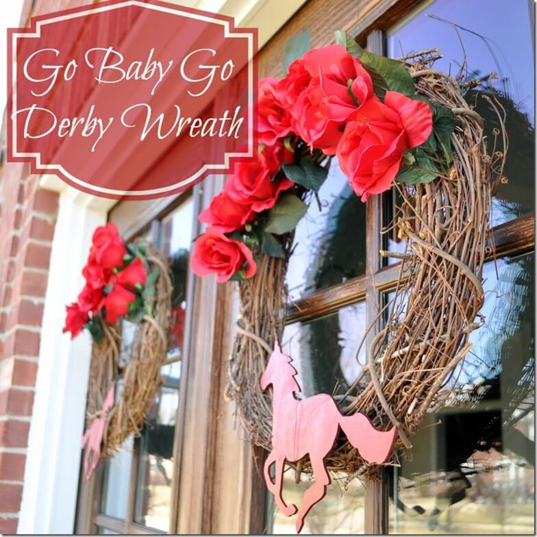 Kentucky Derby Wreath @cleverlyinspired (4)