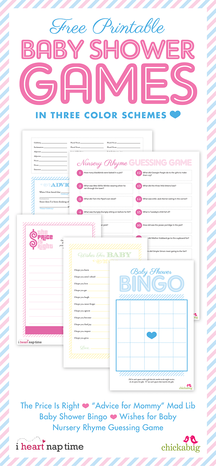 Darling pink and yellow baby shower + free printable baby shower games from @iheartnaptime