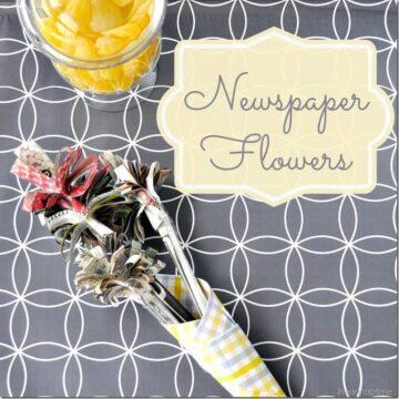 newspaper flowers @iheartnaptime (6)