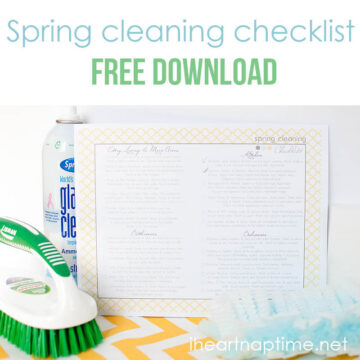 Spring cleaning check list with free download from @iheartnaptime