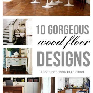 10 gorgeous wood floor designs