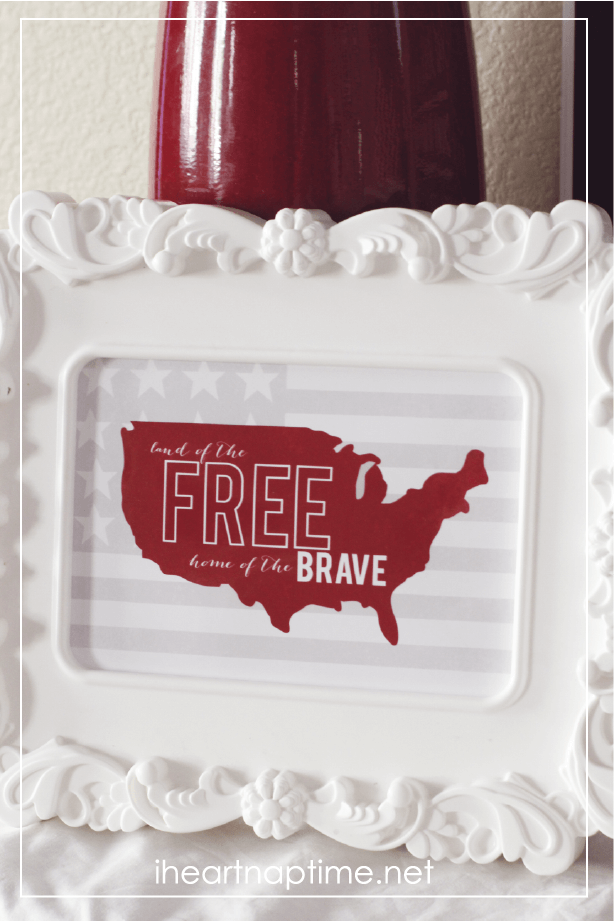 I love this fourth of July print! Free at I heart naptime.