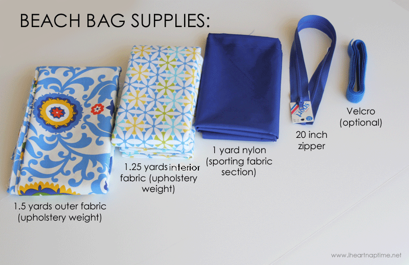 DIY oversized beach bag