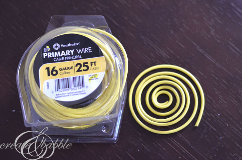 yellow wire in packaging