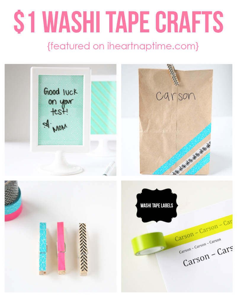 $1 washi tape crafts you can create in 5 minutes! Cute ideas! #DIY #crafts