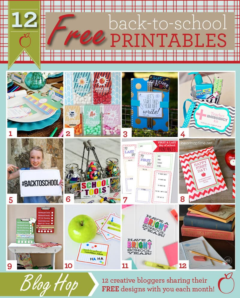 12 Free Back to School Printables