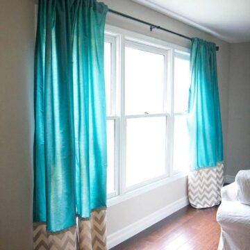 DIY back tab curtains