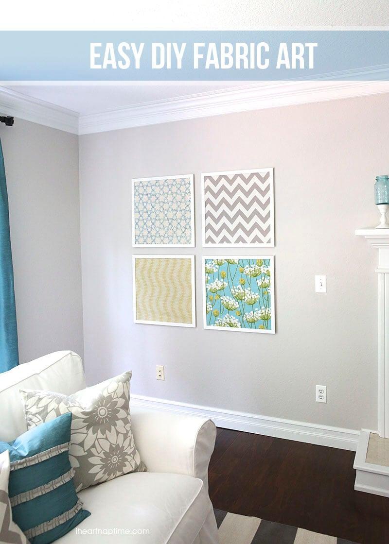 Easy DIY fabric art