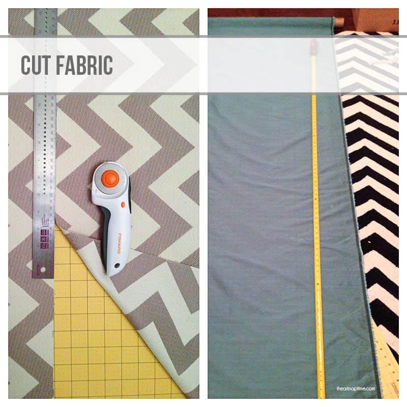 cutting fabric - DIY curtains