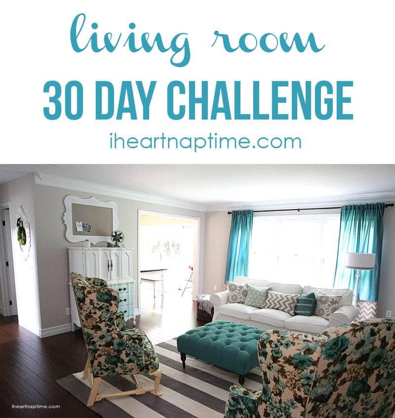 living room makeover 30 days