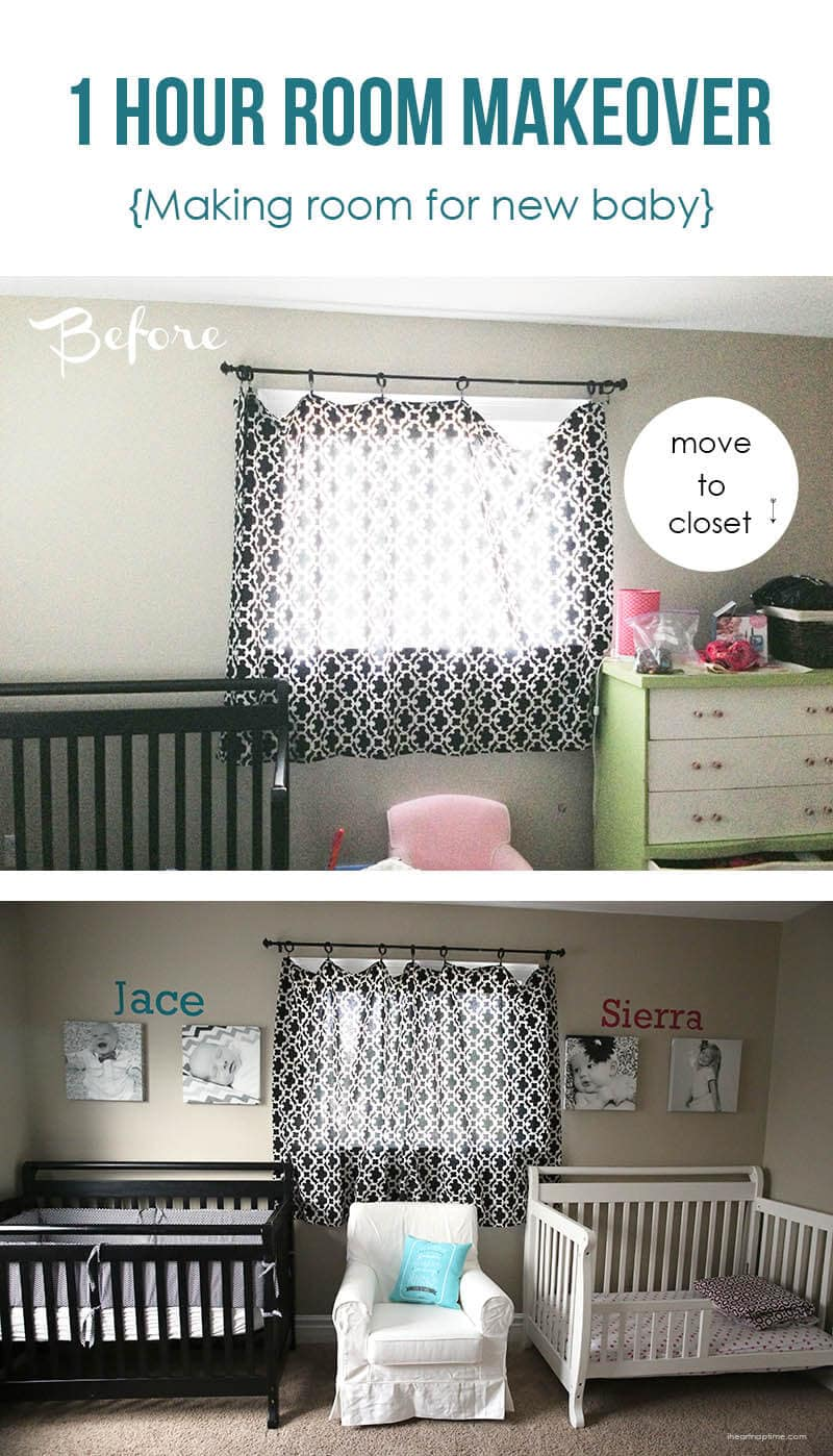 one hour room makeover