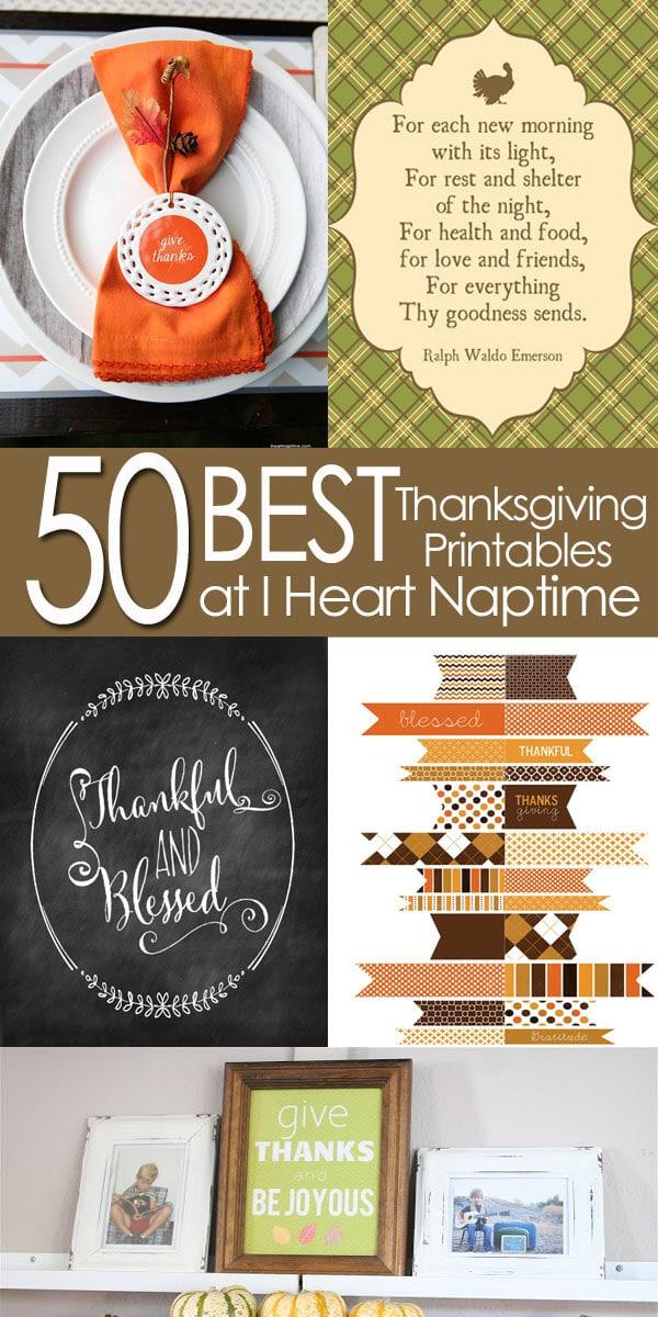 50 BEST Thanksgiving Printables