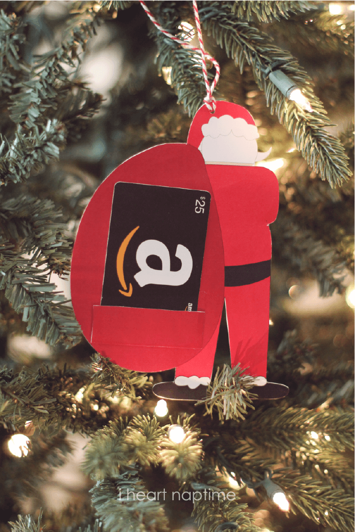 Santa Money or Gift Card Holder {free printable}