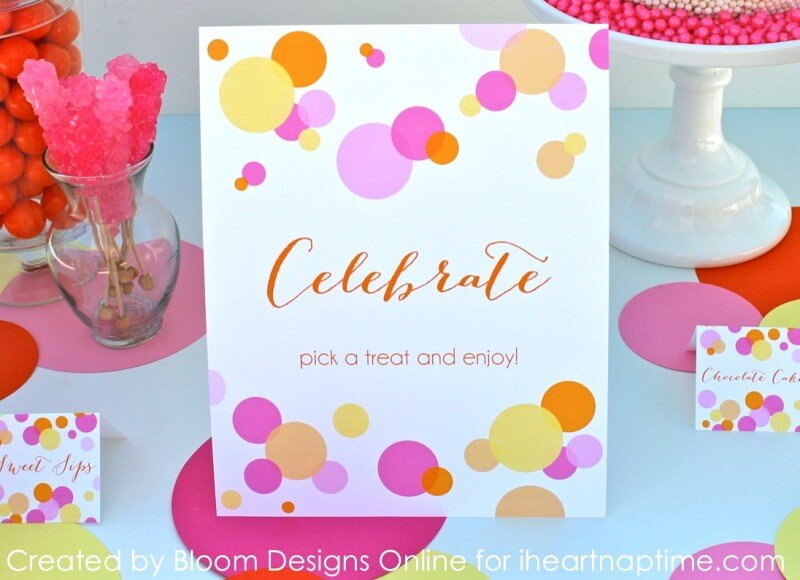 Confetti Party Printables