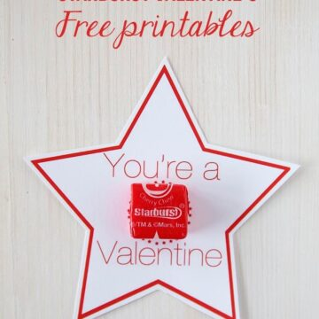 Love these Starburst Valentines on iheartnaptime.com ...there's 2 different free downloads! #freeprintables