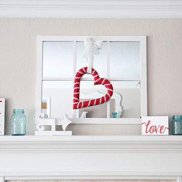 Valentine's Day mantle on I Heart Nap Time