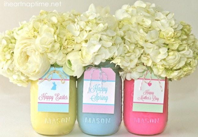 spring mason jars