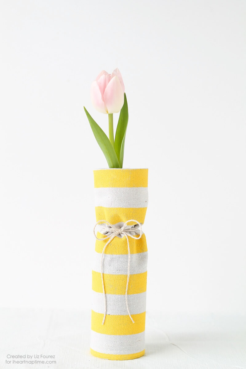 Fabric Covered Spring Vases