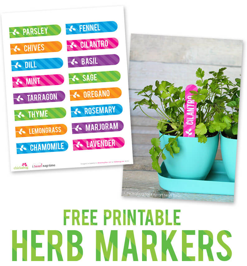 Re-freshen your herb garden with these free printable markers, perfect for your indoor or outdoor plants!