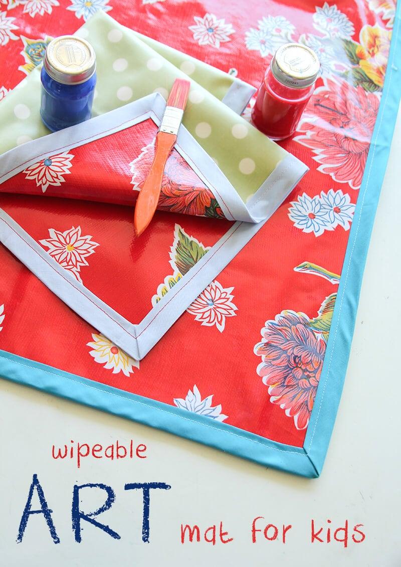 Wipeable Art Mat on iheartnaptime.com
