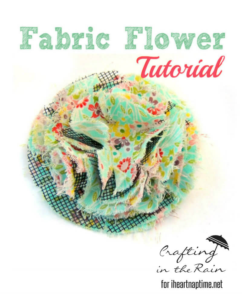 Fluffy Fabric Flowers by Crafting in the Rain on iheartnaptime.com