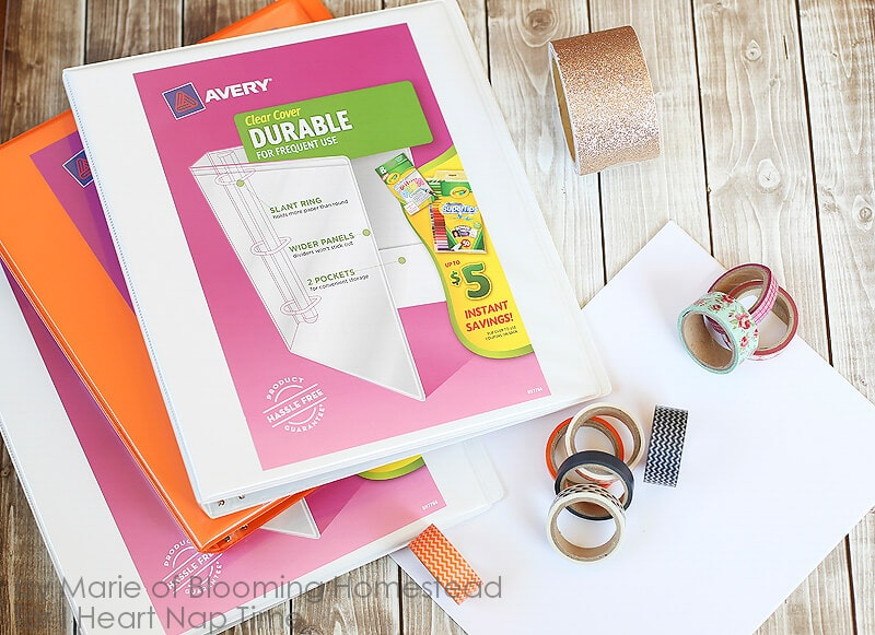 DIY Binder Covers by Blooming Homestead on iheartnaptime.com