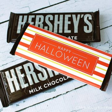 Free printable Halloween candy bar labels