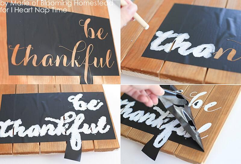 Be Thankful Wood Sign on iheartnaptime.com