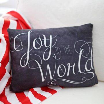 Joy to the world pillow
