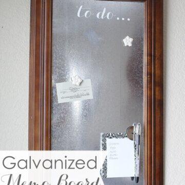 DIY Galvanized Memo Board on iheartnaptime.com