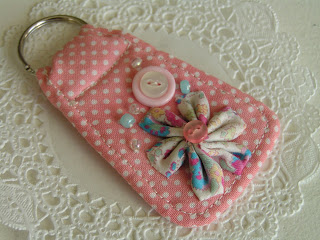 DIY fabric key rings