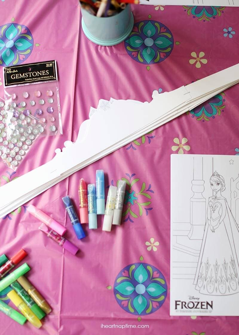 Free printable frozen crowns and coloring pages