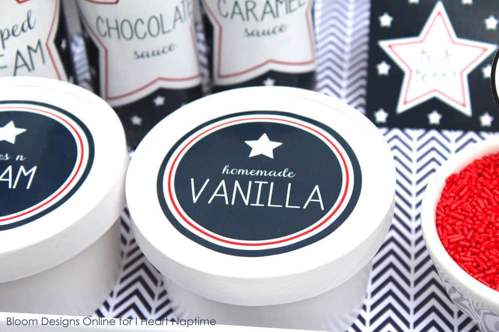patriotic ice cream labels