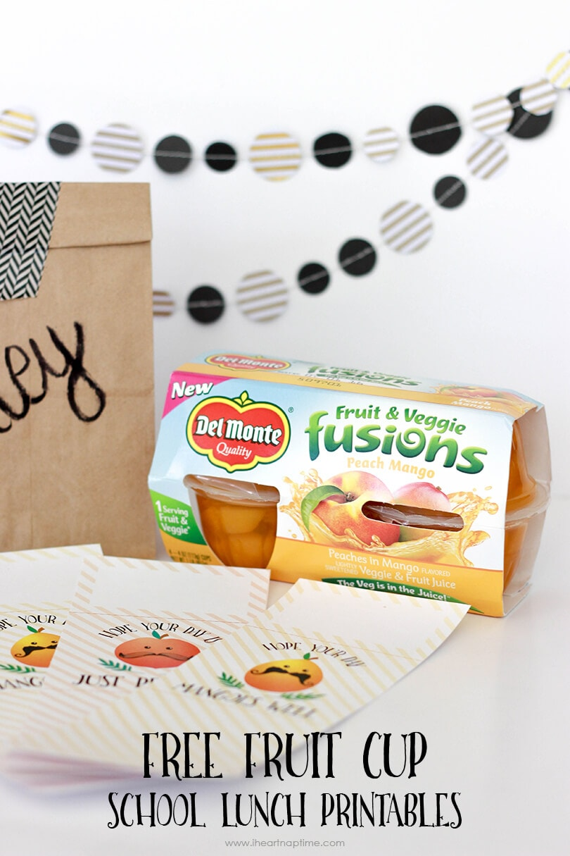 FREE Fruit Cup School Lunch Printables on iheartnaptime.com