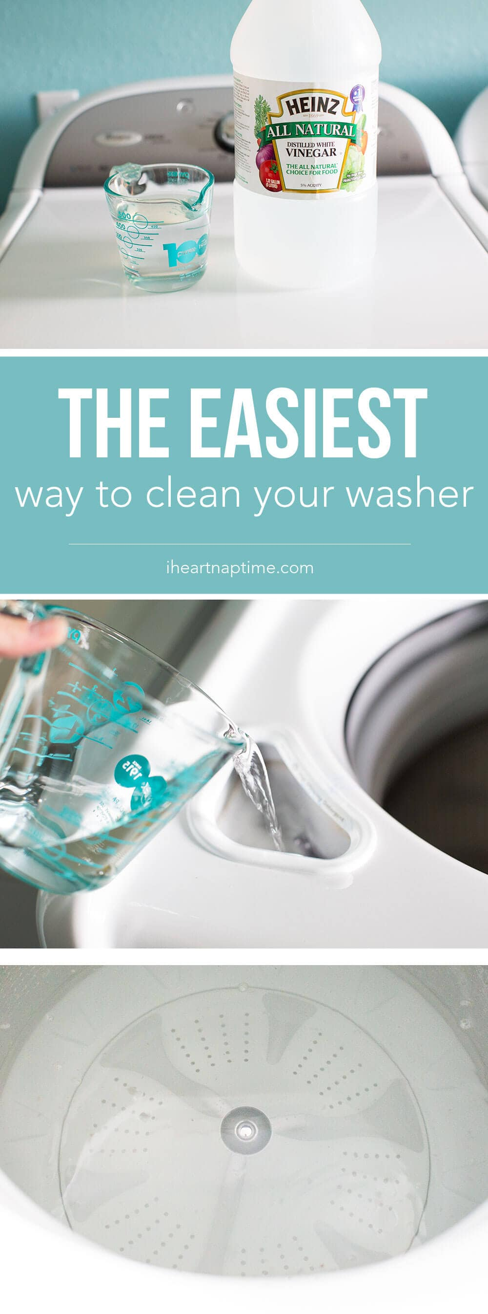using vinegar to clean washer