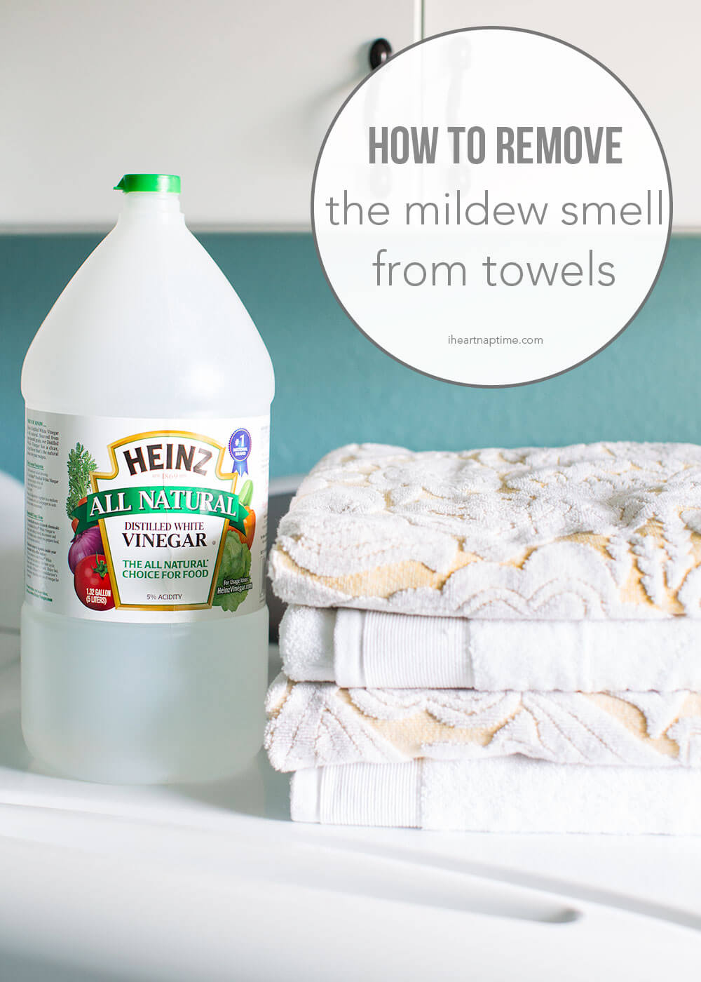 removing mildew from towels with vinegar