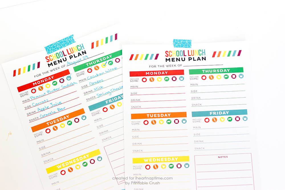 FREE School Organization Printables... print out these free planners to help you stay on track this school year!