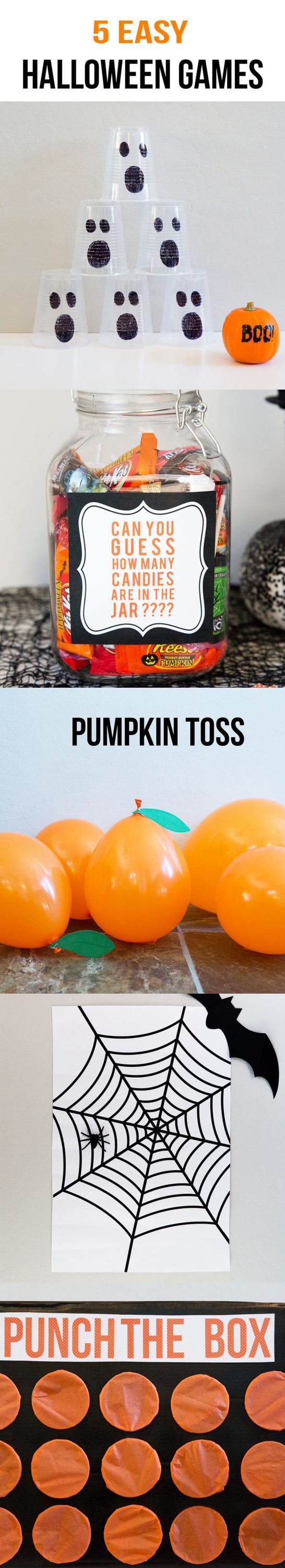5 EASY Kids Halloween Games... so many fun things to do for your next Halloween gathering!