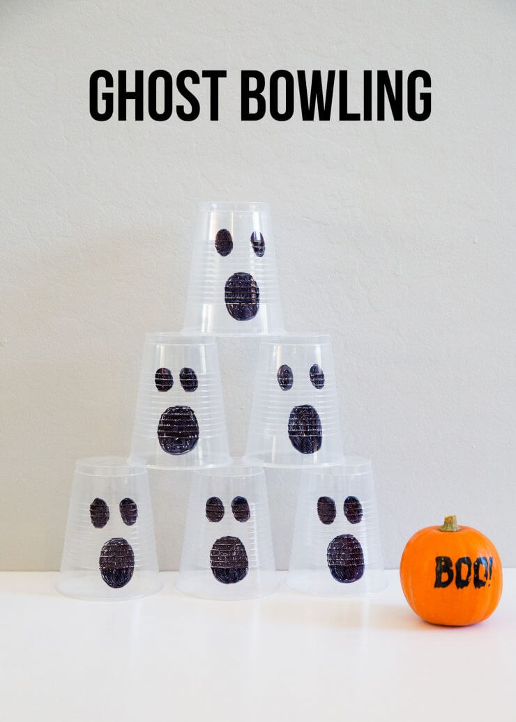 5 EASY Kids Halloween Games... Ghost Bowling
