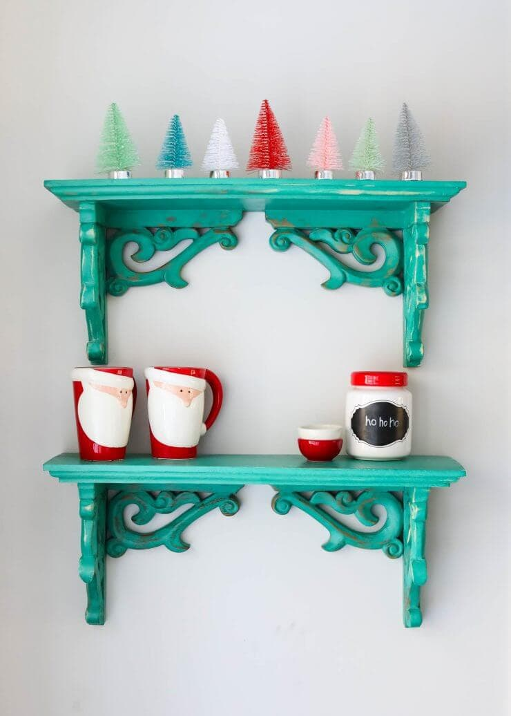 2016 Holiday home tour on iheartnaptime.net -colorful little Christmas trees