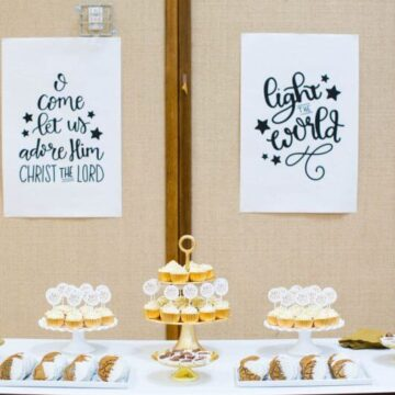 Light the World Designs... during this Christmas season, we participated in this wonderful initiative and it has been so valuable to focus on the true meaning of Christmas. Free printables for you to use, too! Light the World ward Christmas party dessert table.