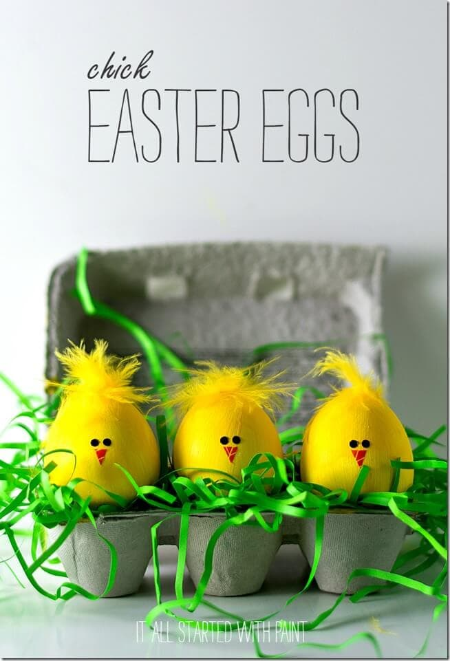 chick easter eggs + 25 Easter Crafts for Kids - Fun-filled Easter activities for you and your child to do together!