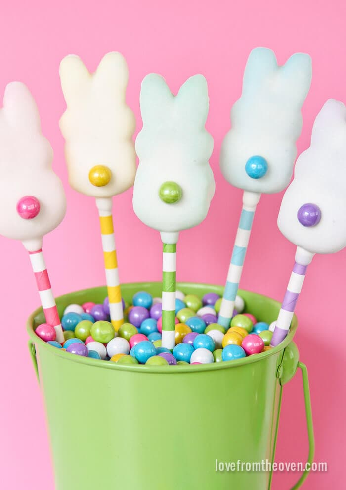 easter peep pops + 25 Easter Crafts for Kids - Fun-filled Easter activities for you and your child to do together!